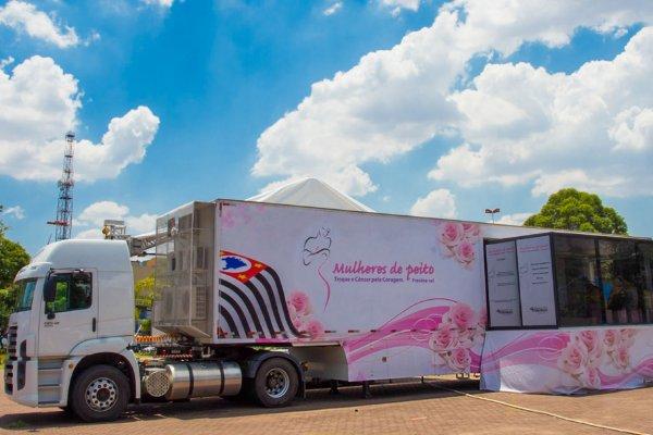 Resultado de imagem para Carreta da Mamografia 600 x 400